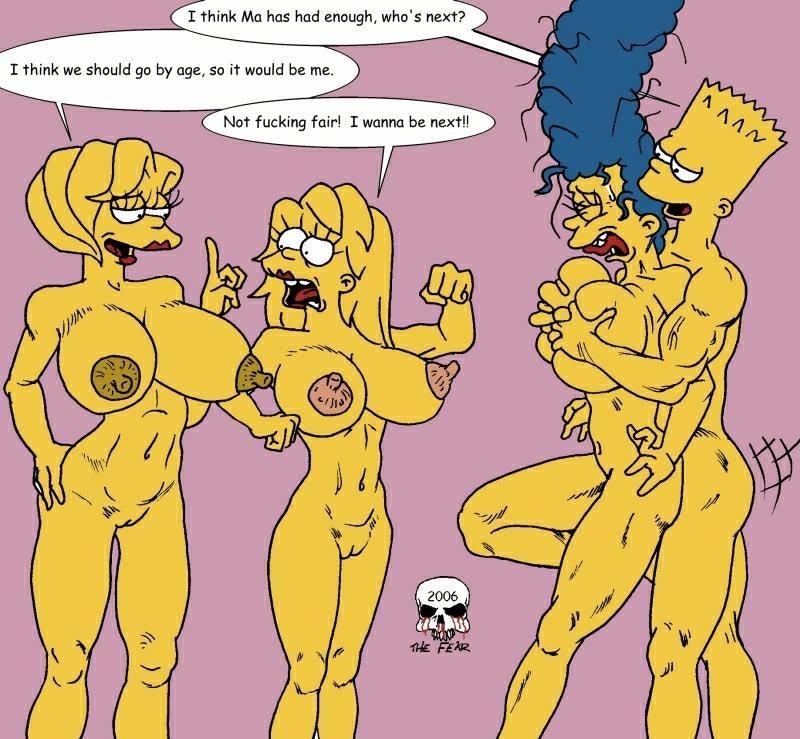 bart simpson naked marge with Dakara boku-wa h ga dekinai