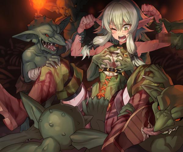 scenes manga slayer rape goblin Pics of talking angela eyes