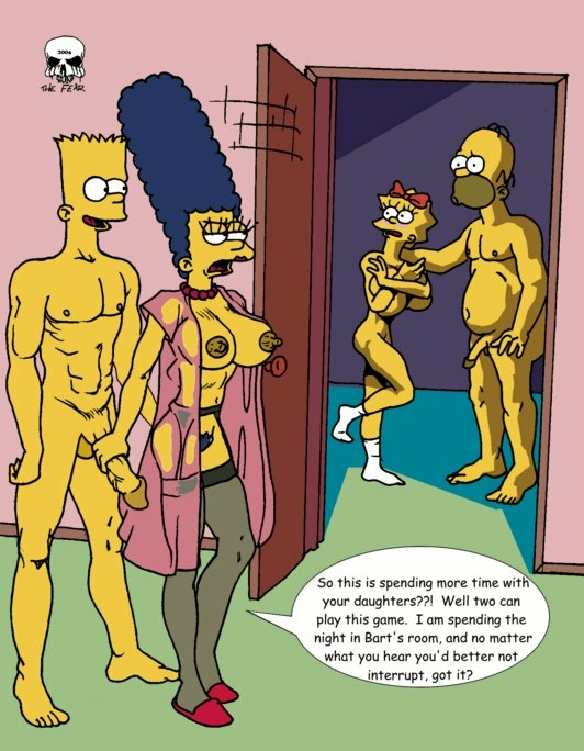 naked simpson marge with bart Genderbent beauty and the beast