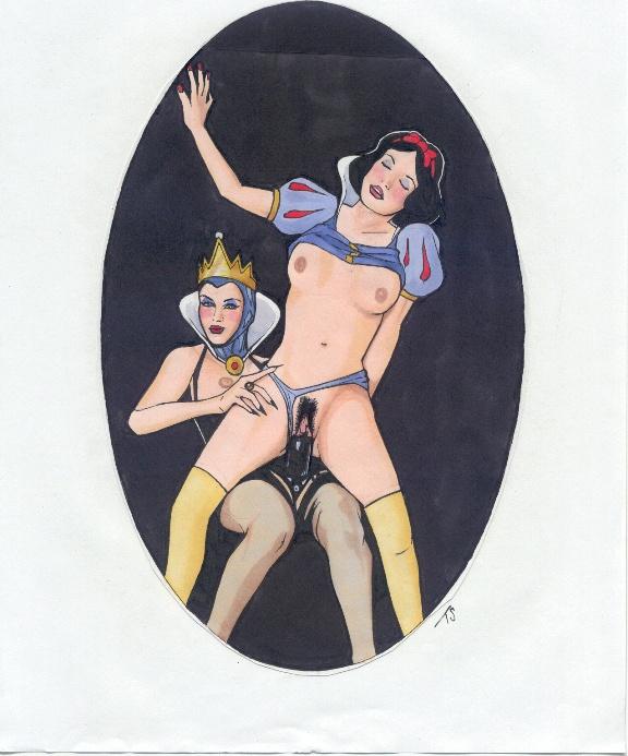 and mage the queen demon Cartoon her ass dripping cum