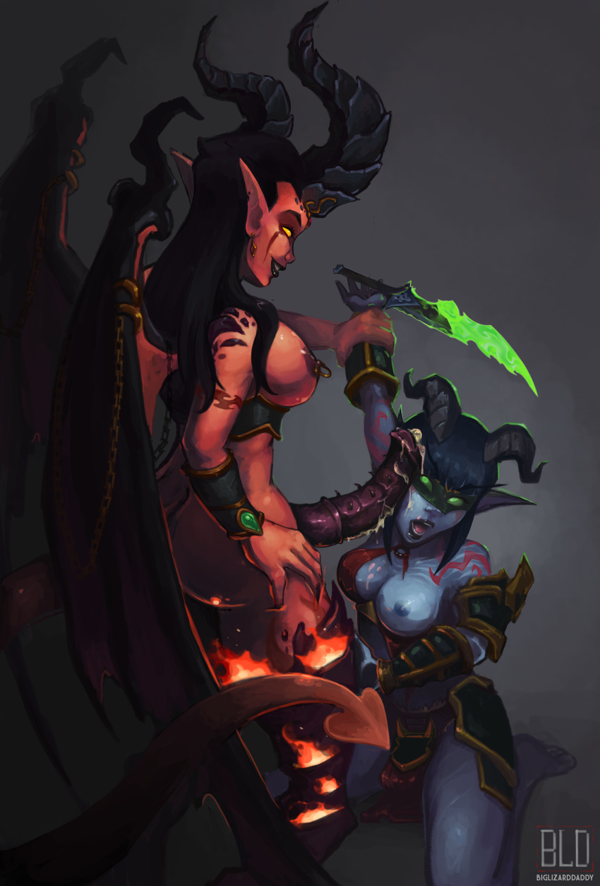 demon blood female hunter elf Lucia miss kobayashi's dragon maid