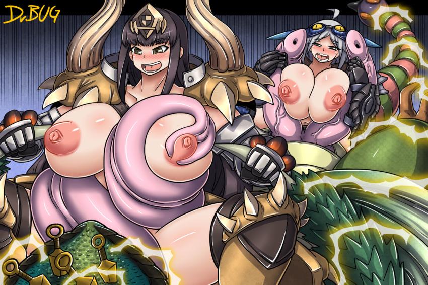 monster hunter armor anjanath world Imouto sae ireba ii doujin