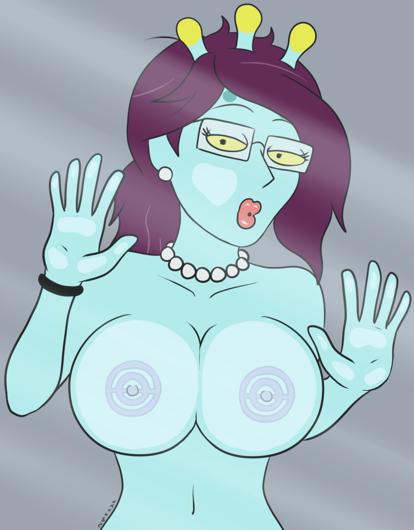 and tits morty rick summer Rouge the bat hentai gif